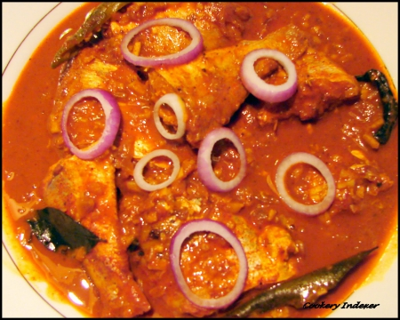 North Indian Fish Curry - north, sauce, fish, onion, food, indian, abstract, dish, spicy, curry