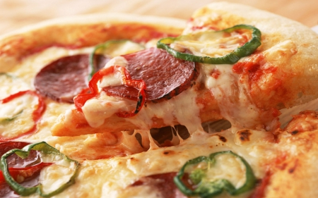 Italian Pizza - sauce, mozzeralla, abstract, dough, crust, italian, cheese, pepper, pizza, pepperoni