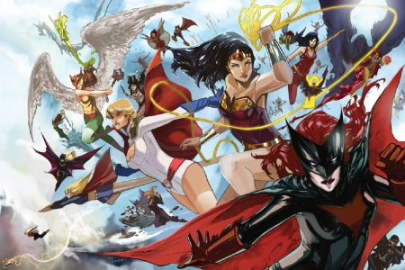 Women Of DC Comics - Wonder Woman, Bat Woman, SuperGirl, Power Girl, Starfire