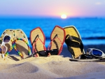 beach_slippers-wallpaper