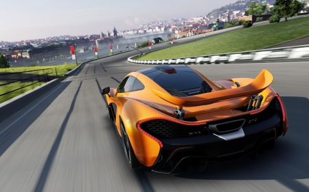 McLaren P1 hybrid supercar - Games, motorsport, forza, yellow, XBox