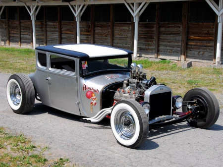1927-Ford-Coupe - Classic, Whitewalls, Hotrod, 1927