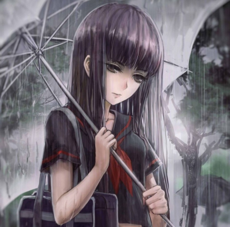 Rainy Day - Other & Anime Background Wallpapers on Desktop ... Lonely Anime Girl Crying In The Rain