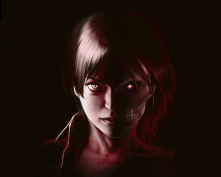 Eren Jaeger - eerie, eren, jaeger, cool, eren jaeger, 3d, hot, dark, scary, hd, guy, male, creepy, darkness, cg, sexy, shingeki no kyojin, glow, handsome, realistic, scare, brown hair, short hair, anime, gloom, creep, gloomy, horror, boy, attack on titan