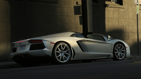 Avantador roadster - italia, hd, speed, performance, aventador, car, parked, lamborghini