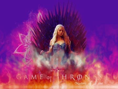 Game of Thrones - Daenerys Targaryen - house, stormborn, westeros, game, khaleesi, Emilia Clarke, picture, show, fantasy, tv show, wallpaper, George R R Martin, Targaryen, GoT, Daenerys, essos, iron throne, fantastic, HBO, a song of ice and fire, Game of Thrones, thrones, medieval, entertainment, skyphoenixx1