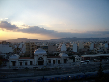 Athens' Buildings - architecture, greece, buildings, sunset, athens