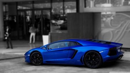 Blue Lamborghini Aventador Lamborghini Cars Background