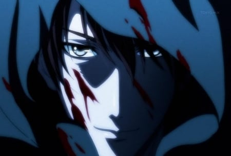 Ao - hakkenden, anime guy, anime, bishounen, ao, blood