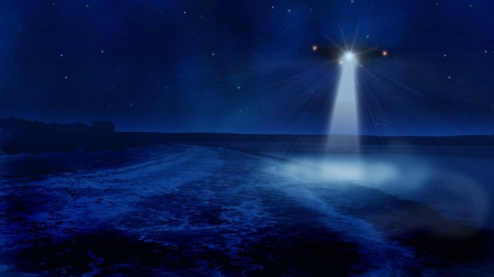 UFO & Alien Artwork - UFO, Alien, Night, Space, Around, Artwork
