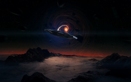 Unknown UFO Sighting Art - SIGHTING, UFO, NIGHT, ALIEN