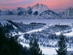 Snake River at Dawn Grand Teton National Park Wyoming
