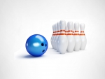 Bowling Ball and Pins Strike 300 Winner
