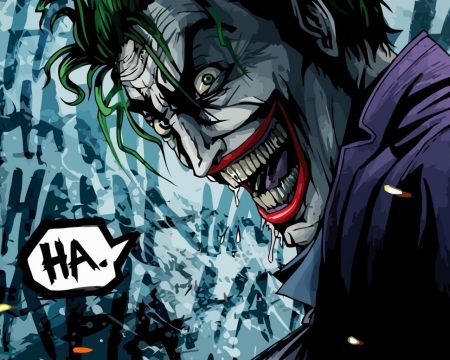 Joker - Joker, crazy, smile, batman, cartoon