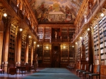 Famous Library in Prague