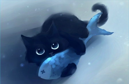 Cute Baby Black Kitten 3d And Cg Abstract Background Wallpapers On Desktop Nexus Image 1551328