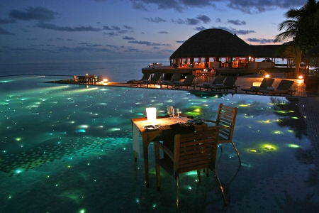 Tropical Dining At Night