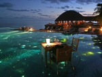 Tropical Dining at Night
