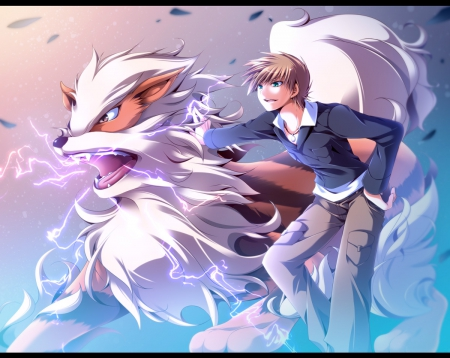 Arcanine - fire, trainer, thunder, wolf, pokemon