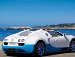 bugatti veyron at the seashore