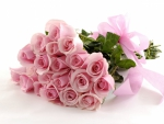 Pink ribbon for Pink Roses