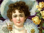 Victorian Coca Cola Girl