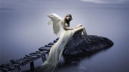 Beautiful angel fantasy abstract background wallpapers on desktop nexus image 1554004 - Sad angel wallpaper ...