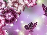 Flower Butterfly Beauties