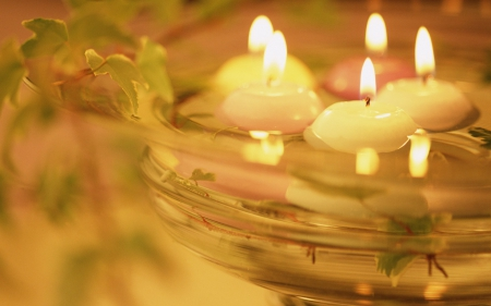 ♥ - water, romantic, feng shui, candles, light