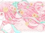 Flowered Pink Hair