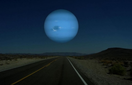 Blue Moon Road - scenic road, scenic moon, blue moon, Blue Moon Road