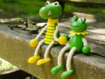 Lost toy crocodile finds friend!