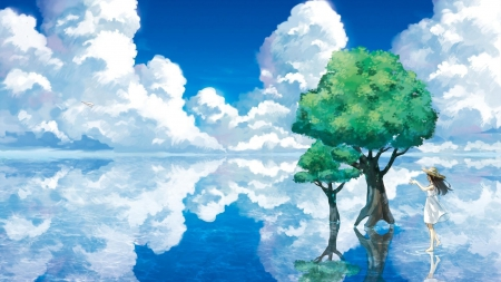 Reflections - Landscape, Anime, Amaing, Reflections