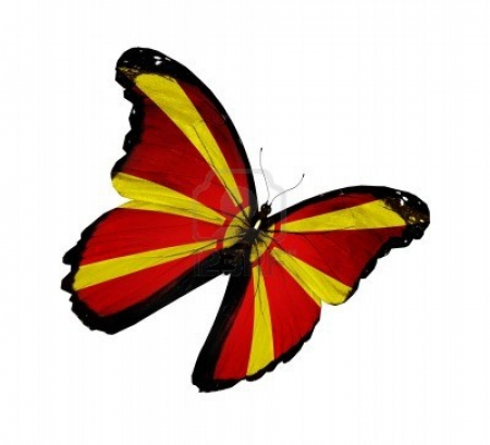 Macedonian flag butterfly - Flag, macedonian, Flying, Butterfly