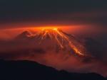 spectacular volcanic eruption