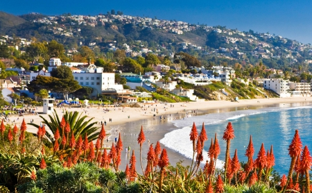 Laguna Beach California Beaches Nature Background Wallpapers On