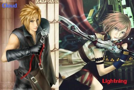 The Swordsman And Swordswoman Final Fantasy Anime Background