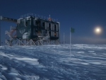 antarctic observatory in a perpetual night