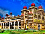 magnificent old indian palace hdr