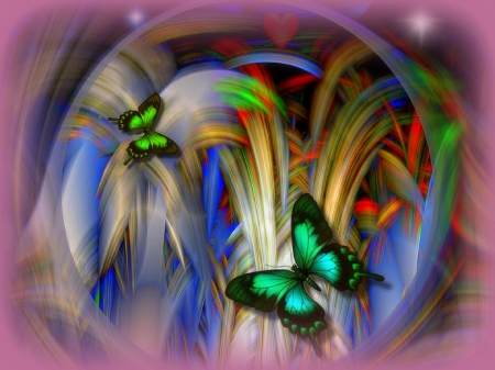 Dreams of Beautiful Wings - lovely, love four seasons, beautiful, butterflies, softness beauty, creative pre-made, digital art, fantasy, 3D and CG, fractals, scenes, butterfly designs, animals