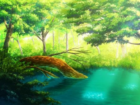 Image result for pond anime