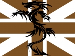 Gold Union Jack and Black Dragon
