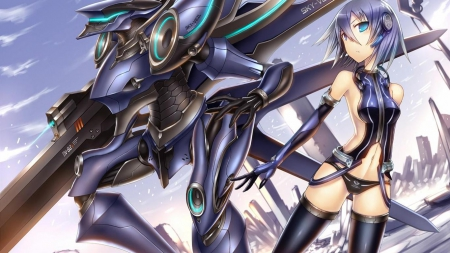 mecha girl other anime background wallpapers on desktop nexus