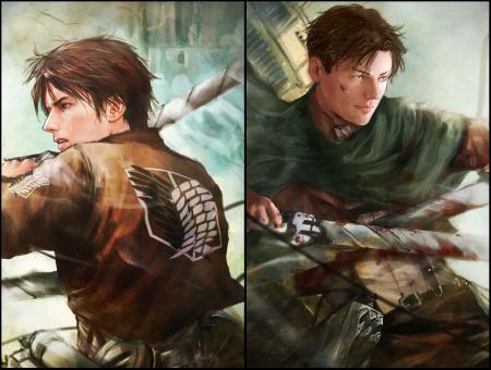 Eren Vs Levi Other Anime Background Wallpapers On Desktop Nexus Image 1563448