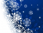 Blue Snowfade Flakes