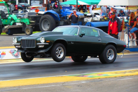 1970 Chevrolet Camaro - race, chevy, 1970, camaro, wheelstand, drag race, gm, 70, chevrolet, classic, muscle car, fast