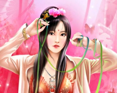 Chinese Girl Fantasy Abstract Background Wallpapers On Desktop