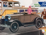 1930 Ford 2 door Ad art