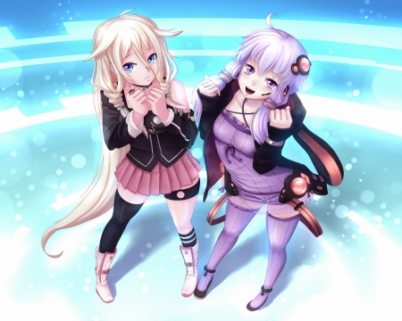 IA & yukari best friends 2 - Other & Anime Background Wallpapers on