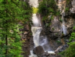 wild waterfall gorge hdr
